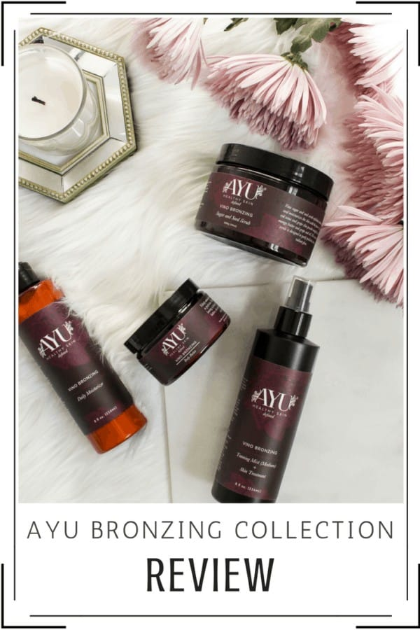 AYU Sunless Vino Bronzing Collection | A Sunless Tanner Review | Thrifted & Taylor'd