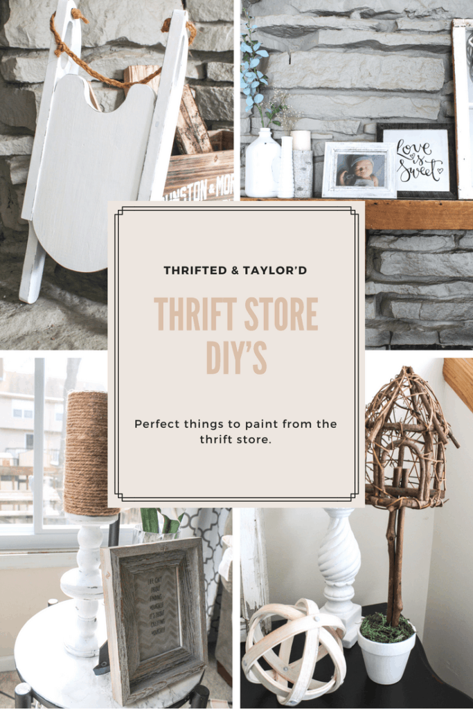 Thrift Store DIY   Perfect things to paint from the thrift store   Thrifted & Taylor'd