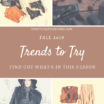 Fall is just around the corner, have you started getting your wardrobe ready for the cooler weather? Check out these fall trends to try this season and spruce up your fall wardrobe!