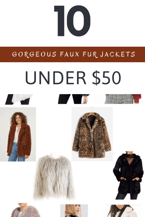10 Gorgeous Faux Fur Jackets Under $50 | Thrifted & Taylor'd