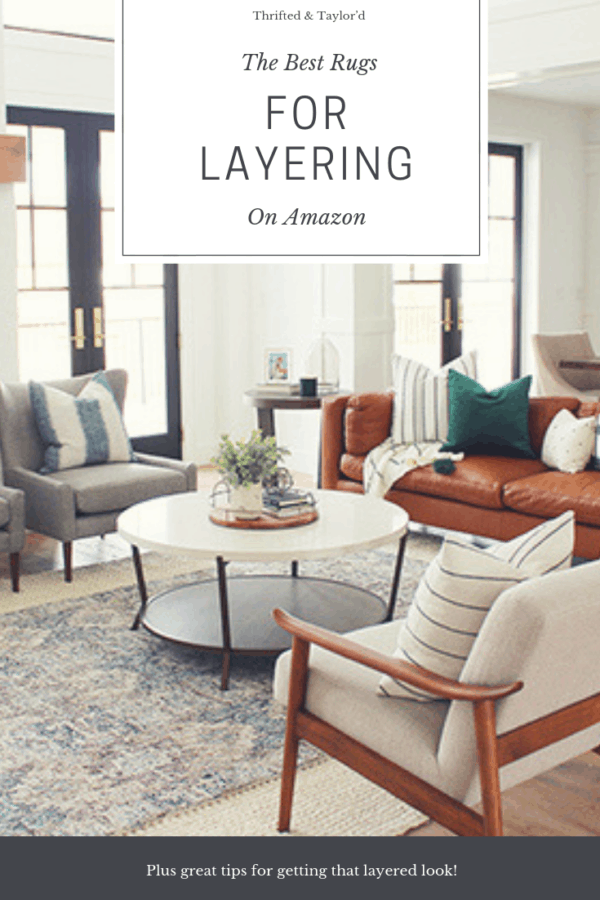 The Best Rugs For Layering On Amazon   #rugs #rugsideas #ruglayering #homedecor #homedecorating #decorating
