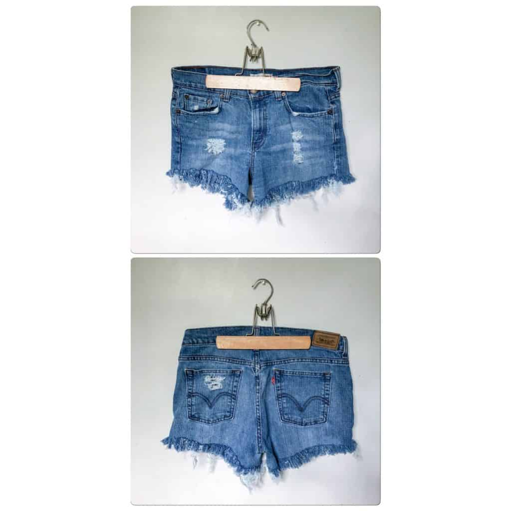 DIY Denim Shorts | Thrifted Jeans Into Shorts | #thrifted #thriftedfashion #thriftstorediy #diydenim #diydenimshorts #fashion #summerfashion #diy