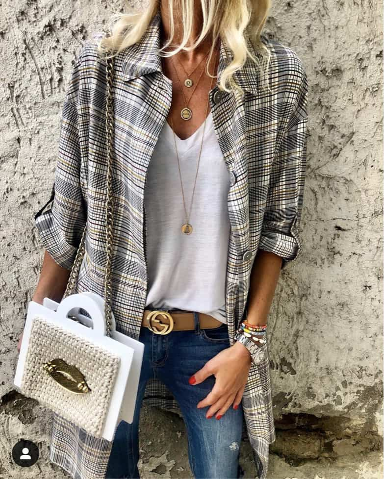 How to style a button down shirt. Wear a cool patterned shirt open as a layering piece for your favorite jeans and t-shirt combo.