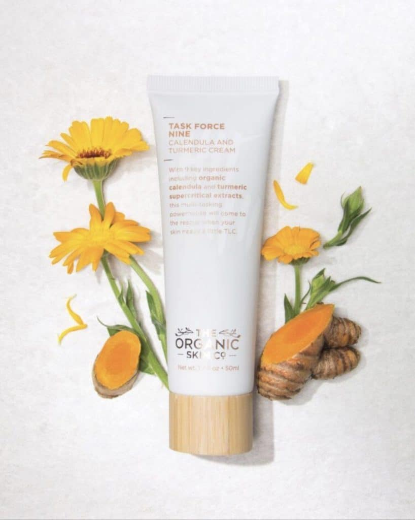The Organic Skin Co. Review | My impression of their Task Force Nine Calendula and Turmeric Cream. one of their organic natural beauty products that is a powerhouse skin care cream which restores and repairs your skin while also moisturizing.