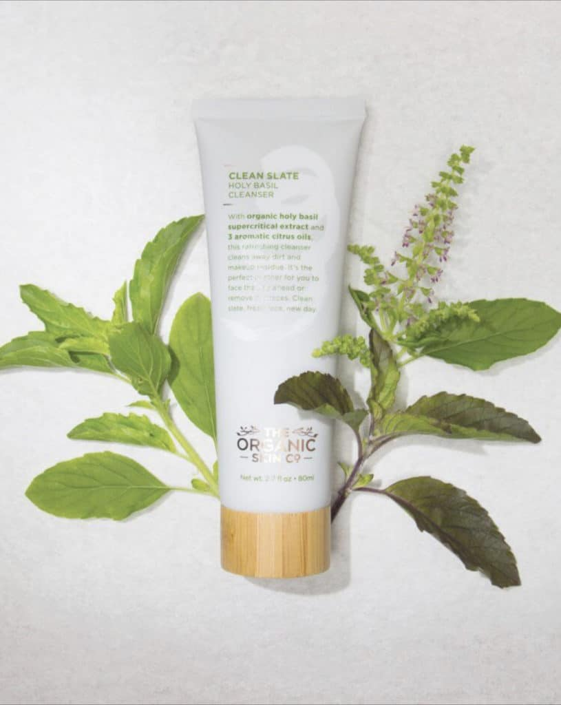 The Organic Skin Co. Review | My impression of their Clean Slate Holy Basil Cleanser. It is one of their organic natural beauty products which cleanses the face without drying it out.