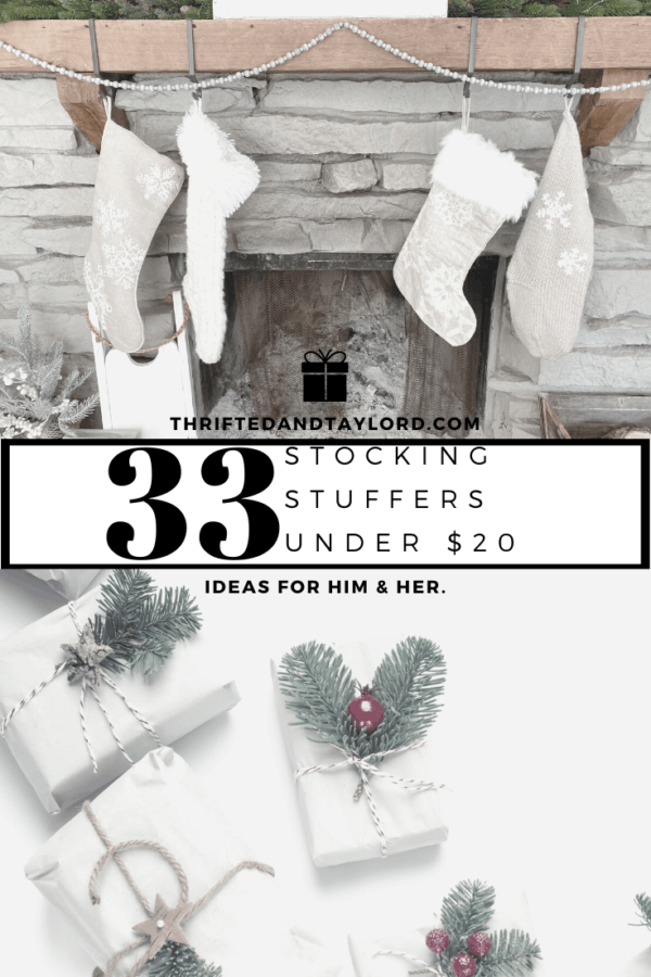 Stocking stuffers can be hard. Do you go practical, funny, cool, tasty? I found 33 stocking stuffers under $20 for him, for her, and for both!