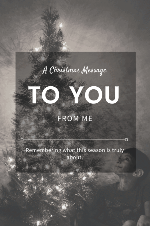 A Christmas message to you all, may your days be merry & bright this holiday season.