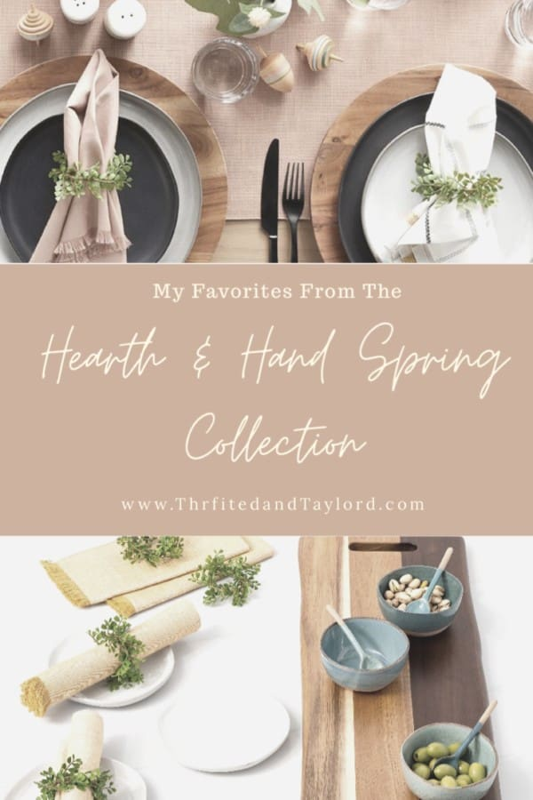 Check out a few of my favorites from the new Hearth and Hand spring collection.
