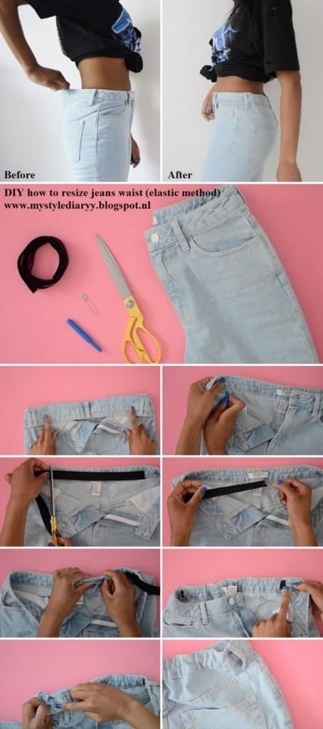 How to add elastic to your jeans waistband.