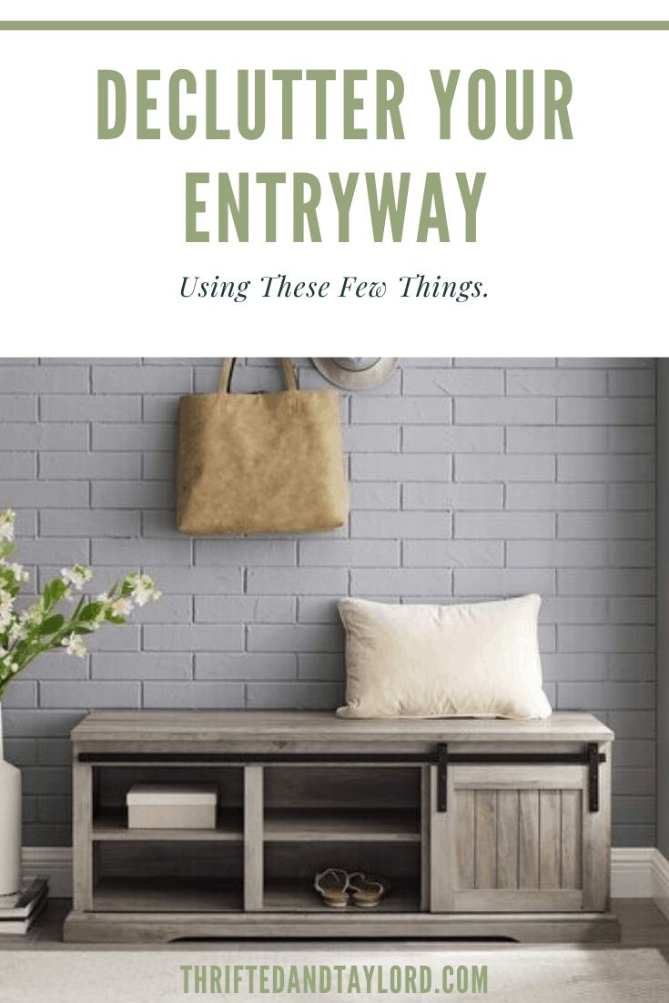 No one likes welcoming their guests into their home with a mess. Check out how you can easily declutter your entryway with just a few things.