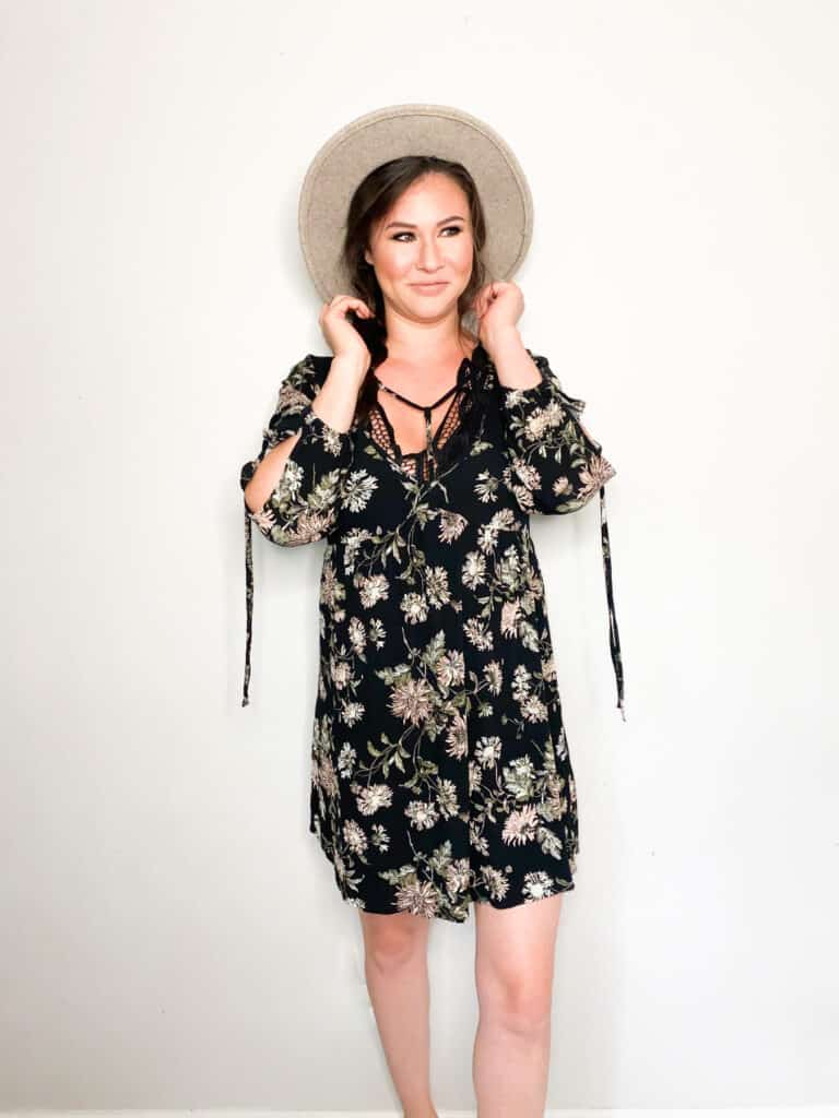 As we move closer and closer to fall it's time to start thinking about wardrobe transitions. This floral dress that I picked up in this end of summer thrift haul are perfect to transition into fall. Check out the other great pieces I picked up and how I plan to wear them into the fall!